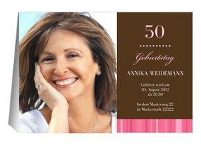 einladung 50. geburtstag marlene, Einladung