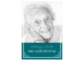 Einladungskarte 100. Geburtstag Leonore