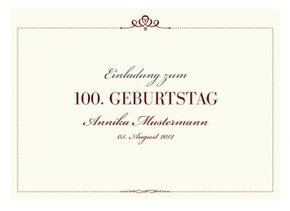 Einladungskarte 100. Geburtstag Royal