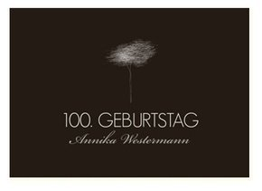 Einladungskarte 100. Geburtstag Tree Tale