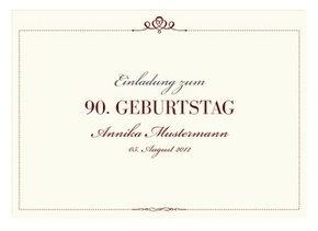 Einladungskarte 90. Geburtstag Royal
