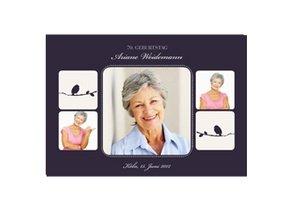 Einladungskarte 70. Geburtstag Violett