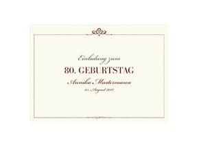 Einladungskarte 80. Geburtstag Royal