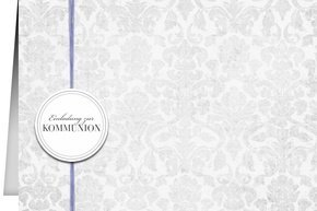 Einladung Kommunion Lila Grey 2