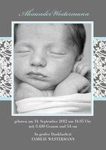 Dankeskarte Blue Greyling