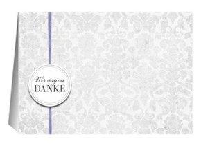 Danksagungskarte Hochzeit Lila Grey 1