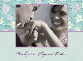 Fotobuch Hochzeit Elegant Türkis