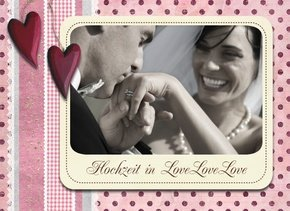 Fotobuch zur Hochzeit Love Love Love