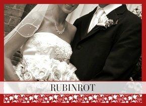 Fotobuch zur Hochzeit Rubinrot