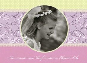 Fotobuch Kommunion und Konfirmation Elegant Lila