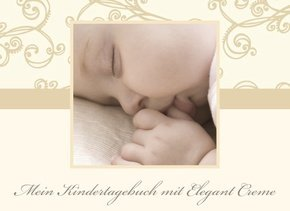 Fotobuch als Kindertagebuch Elegant Creme