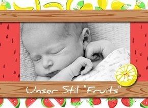 Fotobuch als Kindertagebuch Fruits
