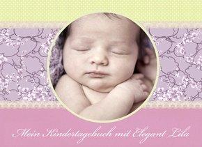 Fotobuch als Kindertagebuch Elegant Lila
