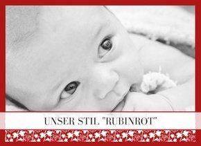 Fotobuch als Kindertagebuch Rubinrot