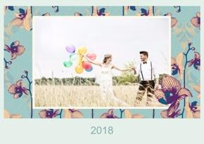 Fotokalender Elegant Türkis 1