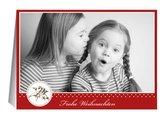 Weihnachtskarte Roter Engel