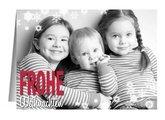 Weihnachtskarte Weißflöckchen