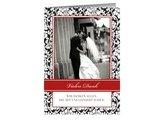 Danksagungskarte Hochzeit Lovely Black