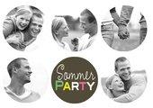 Einladung Sommerparty Happy Summer
