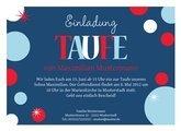 Einladung Taufe Bubble Blau
