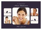 Einladungskarte 40. Geburtstag Violett