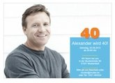 Einladungskarte 40. Geburtstag Alex