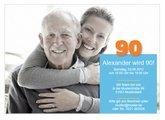 Einladungskarte 90. Geburtstag Alex