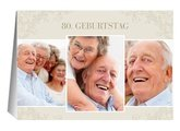 Einladung 80. Geburtstag Creme