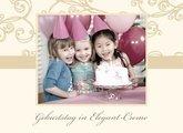Fotobuch Geburtstag Elegant Creme