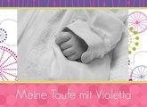 Fotobuch zur Taufe Violetta