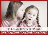 Fotobuch für Mädchen Rubinrot