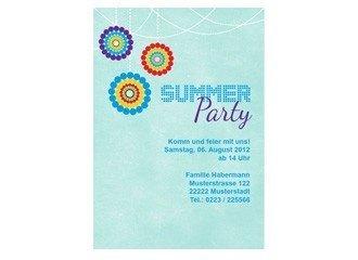 einladungskarte sommerparty, Einladung