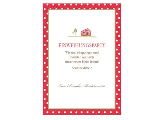 Einladung Einweihung Friendly Red | FamBooks.net