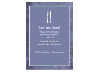 Einladungskarte zum Essen Papillio