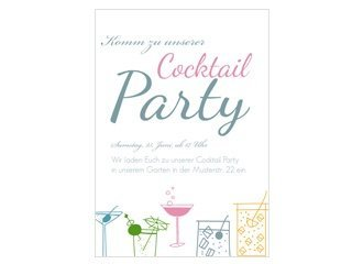 Einladung Cocktailparty Sweet Cocktail
