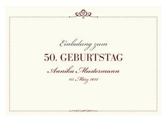 Einladungskarte 50 Geburtstag Royal
