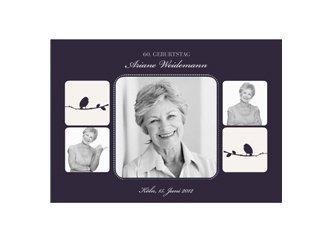 Einladungskarte 60. Geburtstag Violett, Einladungsentwurf