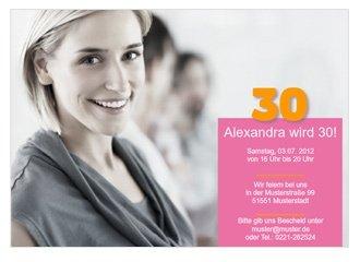 einladungskarte 30. geburtstag alexa, Einladungsentwurf