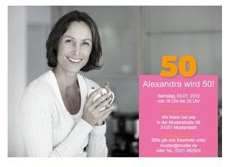 Einladungskarte 50. Geburtstag Alexa | FamBooks.net