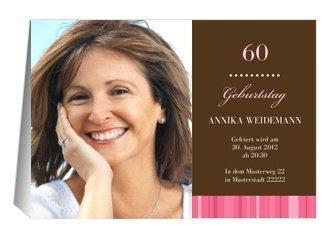 einladung 60. geburtstag chica, Einladungsentwurf