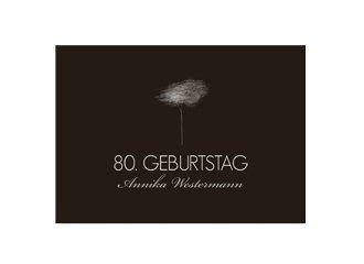 Einladungskarte 80 Geburtstag Tree Tale